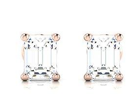 Women earrings 3dm render detail white sterling