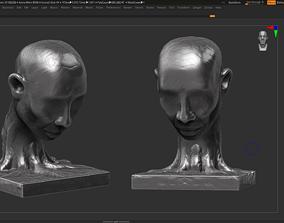 human head modern sculpture 3d print model 82