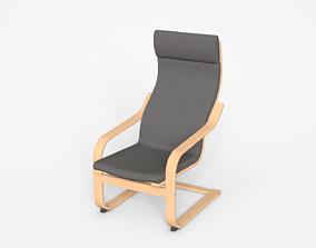 3D asset Lysed Grey-Birch Rocking Armchair