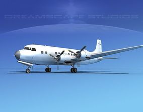 3D Douglas DC-6 Bare Metal