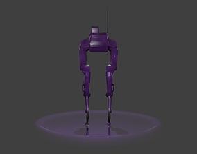3D rigged monochrome Robot