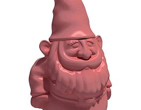 Pink Gnome Sculpture 3D model