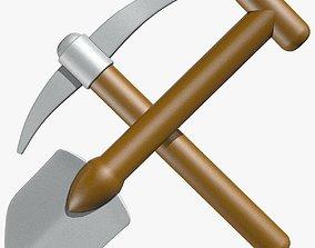3D model Shovel and Pick Axe