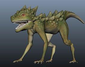 3D asset Free lizard