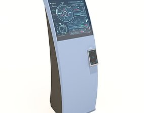 Interface kiosk Curve - Blue 3D model