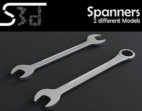 3D asset Spanner Wrench Models