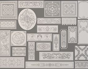 Wall Decorations-Boiserie - 25 pieces 3D