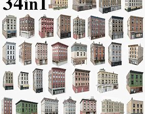 34 Apartment Buildings Collection 3D model