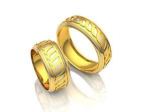 wed 3D print model Wedding ring