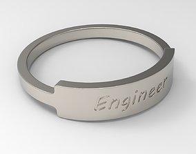 3D print model Engineer Female Ring Platinum