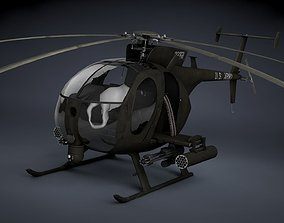 MH-6 Little Bird Gunship 3D model