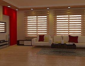 3D model residential Living room 06 vray clear scene