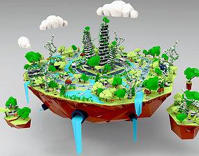 Abandoned city 3D model