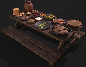Medieval Picnic 3D model