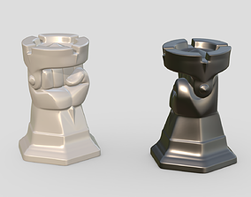 Chess Strong figure Rook cover 3D print model