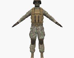Marine Soldier 3D asset