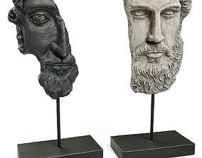 ANCIENT GREEK SCULPTURE POSEIDON and ZEUS 3D