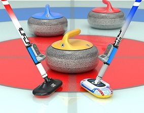 3D model Curling Set
