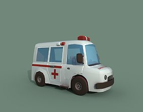 Ambulance 3D asset VR / AR ready care