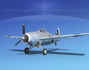 3D Grumman F4F-3 Wildcat V05