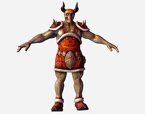 Game MMO RPG Character Skull Monster Santa 3D model