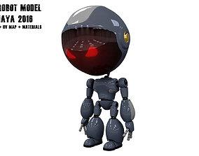 3D asset low-poly Robot Model