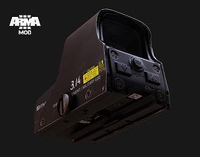 EOTech 551 Black and Tan color 3D asset