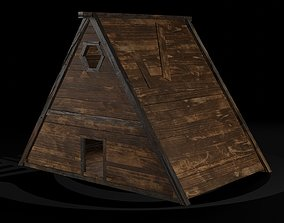 3D asset AAA Wooden Enterable Medieval Primal 5