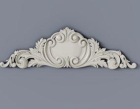 3D printable model Baroque cartouches element 012