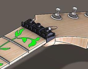 3D model ibanez RG Guitar neck