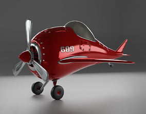 Code 689 Dolphin Cartoon Plane 3D model
