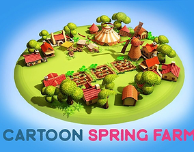 Cartoon Spring Farm 3D model