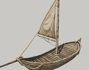 Medieval Sail Boat 3D asset