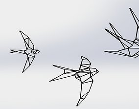 3D printable model Swallow Wall Decor