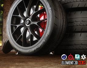 Sport Car Wheels - Tesla - Michelin 3D model