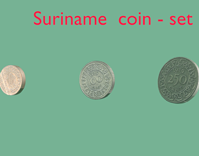 Suriname coin - set model 3D