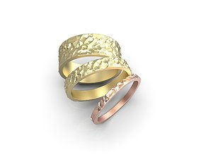 3D print model Ring with rude relief
