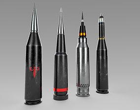 3D asset Sci-fi Bullets