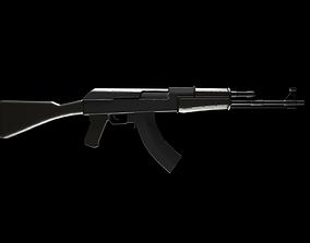 3D model AK 74 Rifle Low-Poly
