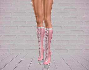 Women Boots 3D model VR / AR ready