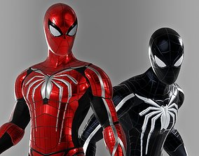 rigged Spiderman Custom Suit design - 3D character asset