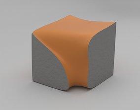Eroded Stool 3D asset