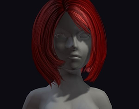 cut beauty hair 3D model low-poly