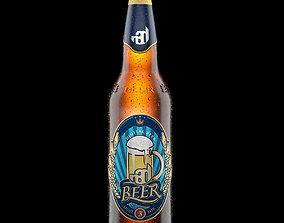 Beer Bottle Realistic 3D