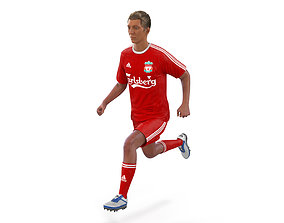 Soccer Player Liverpool Rigged 3D Model rigged