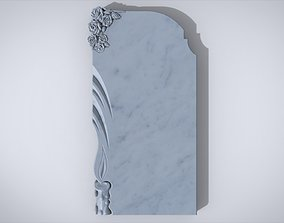 3D Memorial tombstone architectural