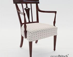 Armchair - England about 1900 - Georg Britsch 3D
