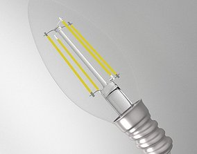 3D LED Light Bulb