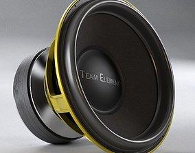 3D model massive loudspeaker 5000w Ground Zero GZPW 18SPL