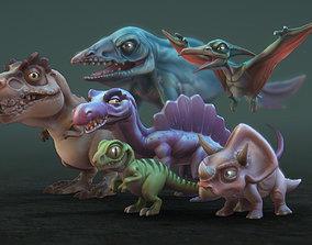 3D asset Toon Dinosaurs